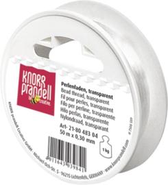 KN8048304- 50 meter nylondraad transparant 0.30mm