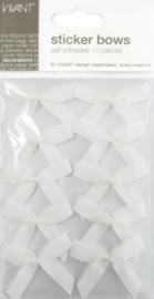 CE599910/0000- 10 stuks zelfklevende gros grain strikjes wit