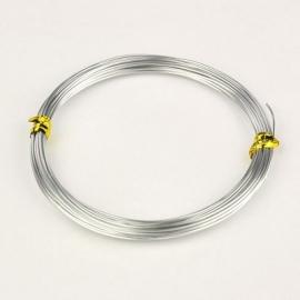 10 meter aluminiumdraad 0.8mm zilver