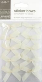 CE599910/0070- 10 stuks zelfklevende gros grain strikjes creme/ivoor