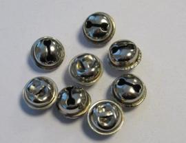 801401/4303- 8 stuks sieraden belletjes 15mm zilverkleur