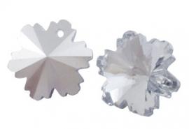 K13- electroplated glasbedel crystal snowflake 14x8mm