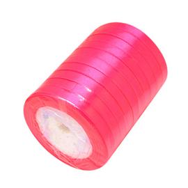 rol met 22.86 meter satijnlint van 10mm breed fel roze - super aanbieding!