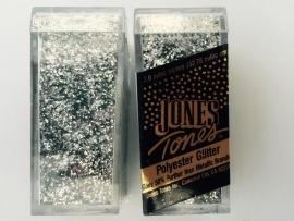 glitter fijn zilver in potje van 6x2.7cm