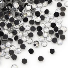 288 stuks hotfix strass steentjes SS30 6.4mm crystal zilver - AA-kwaliteit
