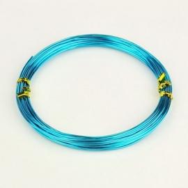 10 meter aluminiumdraad 0.8mm turquoise