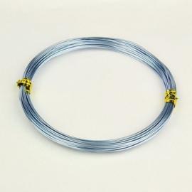 10 meter aluminiumdraad 0.8mm ijsblauw