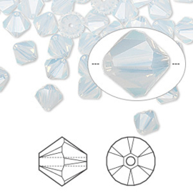 2207 898- 12 stuks echte Swarovski crystal kralen 6mm white opal