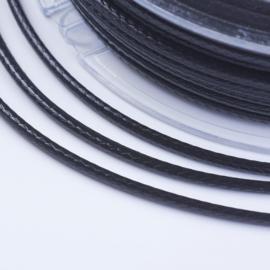 18 meter waxkoord 1mm zwart
