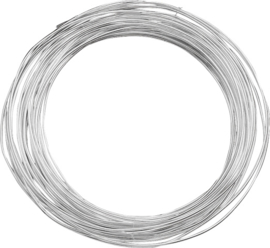 KN216461069- 10 meter zilverdraad van 0.6mm dik