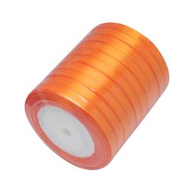 rol met 22.86 meter satijnlint van 10mm breed oranje - super aanbieding!