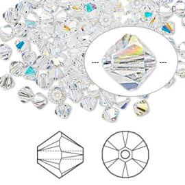 2207 702- 25 stuks echte Swarovski crystal kralen 4mm crystal AB