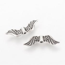 C348- 10 stuks metalen kralen vleugels 23x11mm