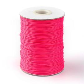 ruim 70 meter hotwax waxkoord 1mm neon roze