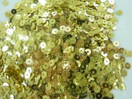 25 gram pailletten facet 4mm goudkleur - circa 2500 stuks