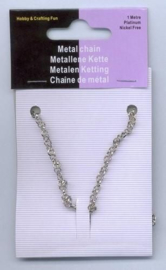 CE450602/2001- 1 meter ketting jasseron 3.5mm zilverkleur