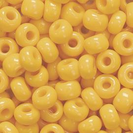 RK09- Boheemse rocailles Ø 5 mm oranje - 17gr in een doosje
