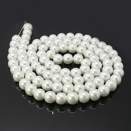 C173- 50 stuks glasparels 8mm white