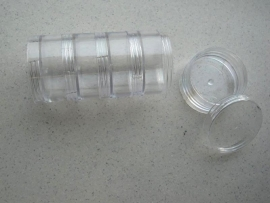 CE890002/9403- 5 stuks opbergdoosjes stapelbaar 15cm