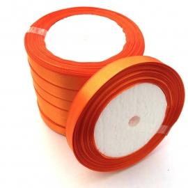 rol met 22.86 meter satijnlint van 12mm breed oranje - super aanbieding!