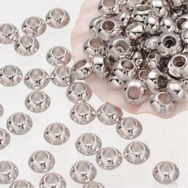C339- 50 stuks zwaar metalen spacers 5.5mm
