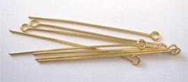 CE430700/4503- ca. 100 stuks kettelstiften 45mm goudkleur