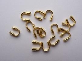 50 stuks draadbeschermers 4x5mm goudkleur