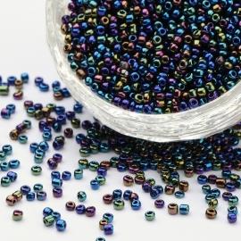 R76- 20gram glazen rocailles 2mm AB olie