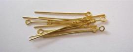 CE430700/3204- 100 stuks ketteltiften 32mm goudkleur