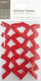 CE599910/0020- 10 stuks zelfklevende gros grain strikjes rood