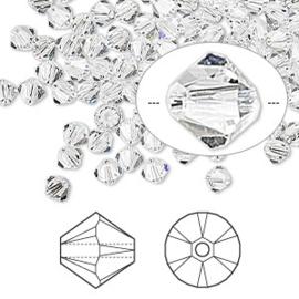 2207 700- 25 stuks echte Swarovski crystal kralen 4mm crystal