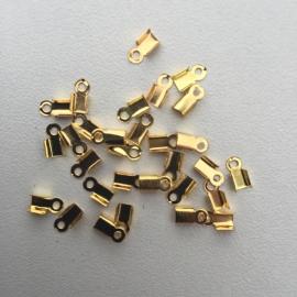 ca. 70 stuks veterklemmen 6x4mm goudkleur