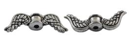 C349- 10 stuks metalen kralen vleugels 18x7mm