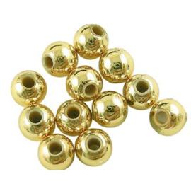 C375- 30 stuks kunststof parels 10mm goudkleur