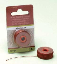 TH12050- 37 meter Silky draad van 0.2mm dik rood