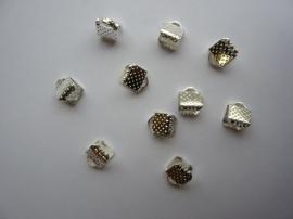 10 x lintklemmen van 6mm breed zilverkleur
