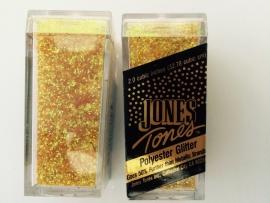 glitter fijn geel AB rainbow in potje van 6x2.7cm