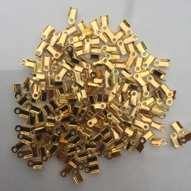 250 stuks veterklemmen 6x4mm goudkleur