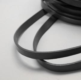 1 meter echt leren platte veter zwart van 10mm breed
