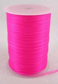 ruim 450 meter organza lint 6mm roze