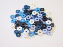 460503/2805- ca. 100 stuks katsuki kralen spacers 6mm blauw mix