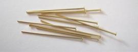 CE430700/3203- 100 stuks nietstiften 32mm goudkleur