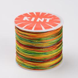 ruim 100 meter waxkoord 0.5mm overlopende kleuren