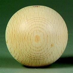 1.2cm houten kraal beukenhout - per 15 stuks