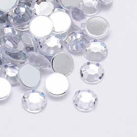 ca. 400 stuks mini strass stenen van 4mm kunststof zilver