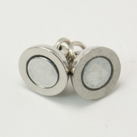 K28- stevige magneetsluiting 14mm zilver