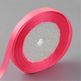 rol met 22.86 meter satijnlint van 6mm breed zuurstok roze - super aanbieding!