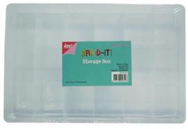 CE890002/0474- opbergbox met 17 vakken 26.5x17.8x4.2cm
