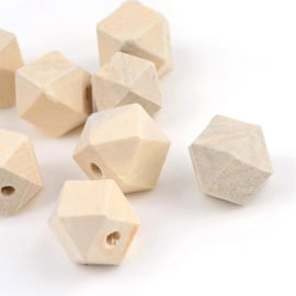 10 stuks houten kralen diamant 19mm