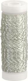 KN216437672- 50 meter bouillon effectdraad 0.3mm zilverkleur
